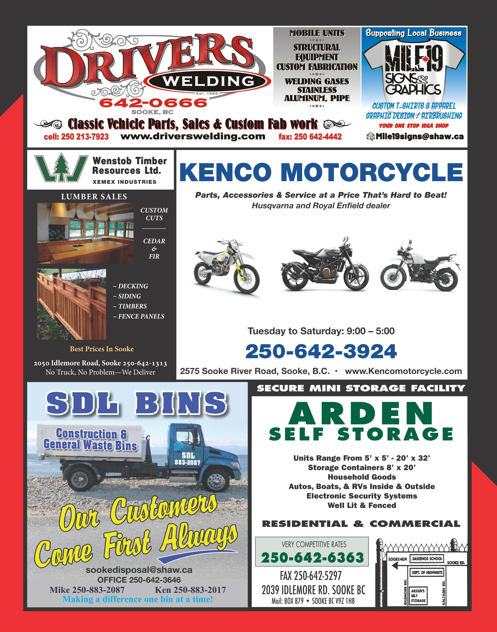 Sooke Regional Directory - Back Cover